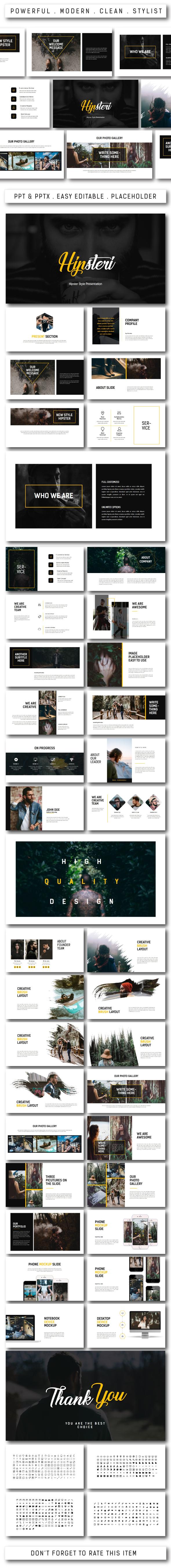 Hipsteri Multipurpose Powerpoint - PowerPoint Templates Presentation Templates