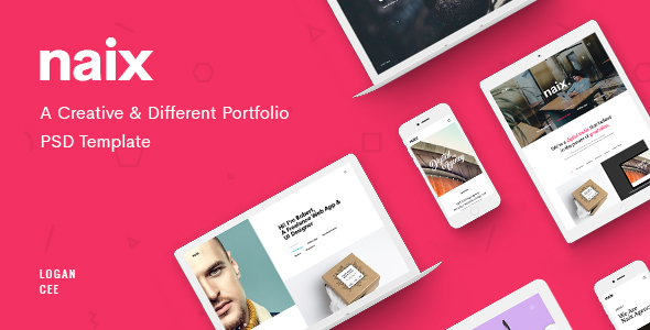 Naix – Creative Portfolio PSD Template by LoganCee | ThemeForest
