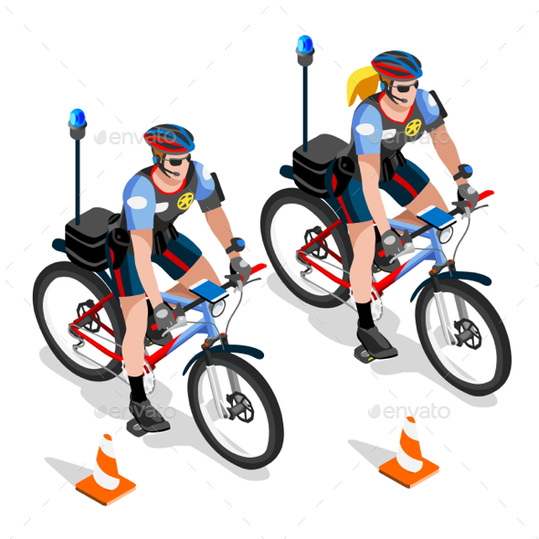 Police Bicycles - People Characters