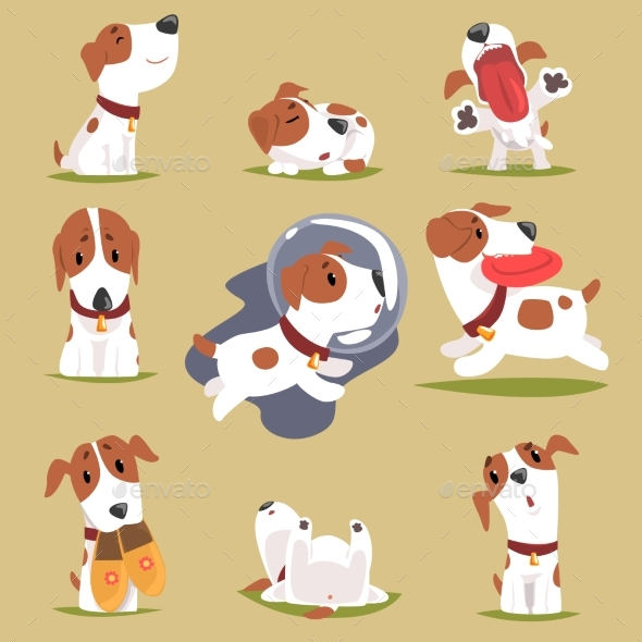 Little Puppy in His Everyday Activity Set - Animals Characters