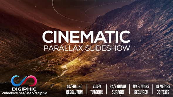 Cinematic Parallax Slideshow Opener