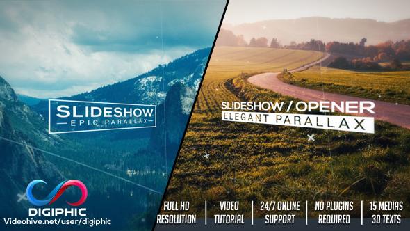 Elegant Parallax Slideshow Opener