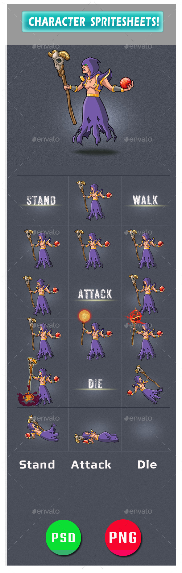 Enemy Game Assets - Sprites Game Assets