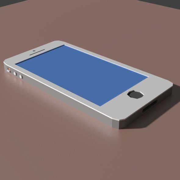 Low Poly iPhone Model - 3DOcean Item for Sale