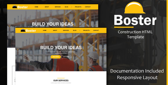 Boster | Construction HTML Template