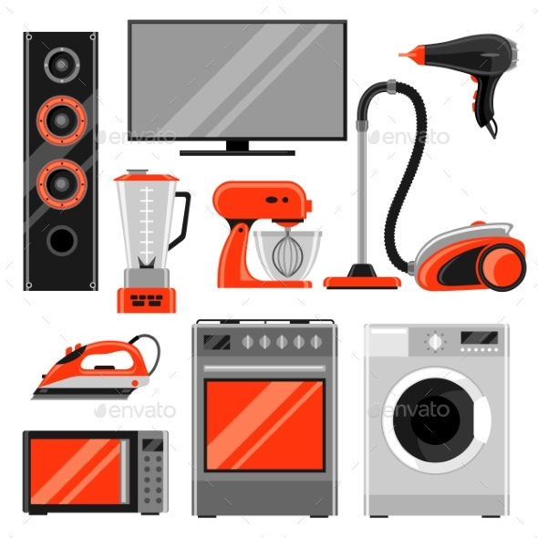 Set of Home Appliances - Retail Commercial / Shopping