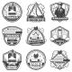 Vintage Monochrome Smoking Labels Set