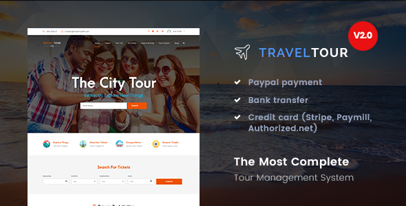 Travel Tour - Tour Booking, Travel WordPress Theme - Travel Retail