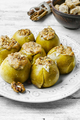 apples stuffed with honey and nuts