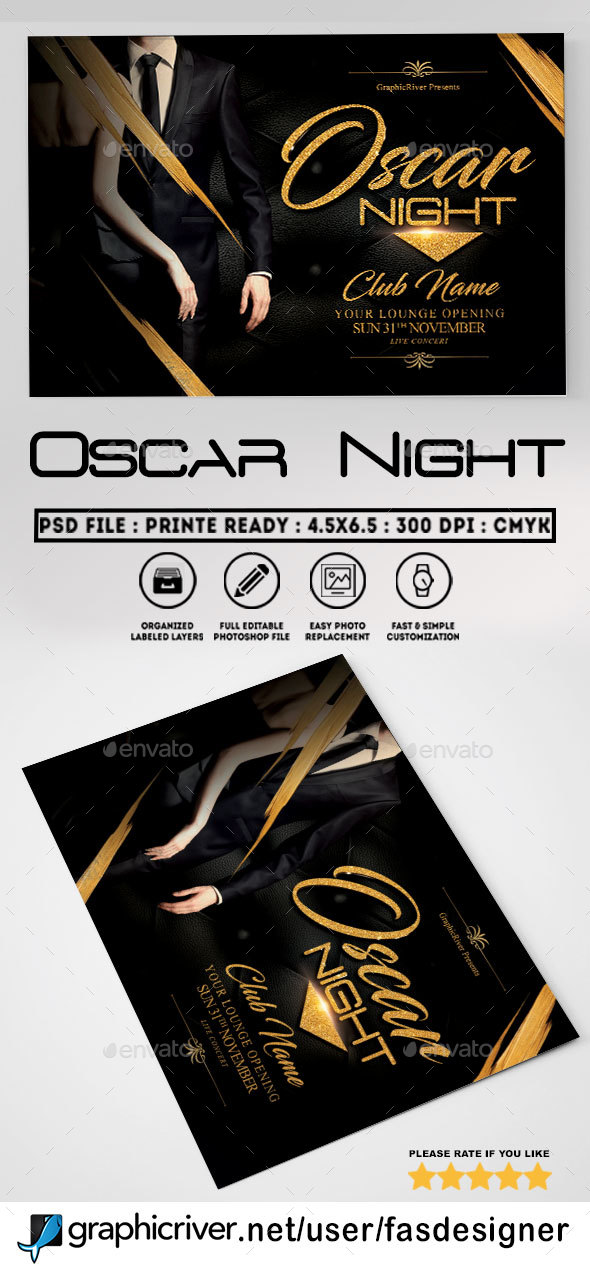 GraphicRiver Oscar Night Flyer Template 20435397