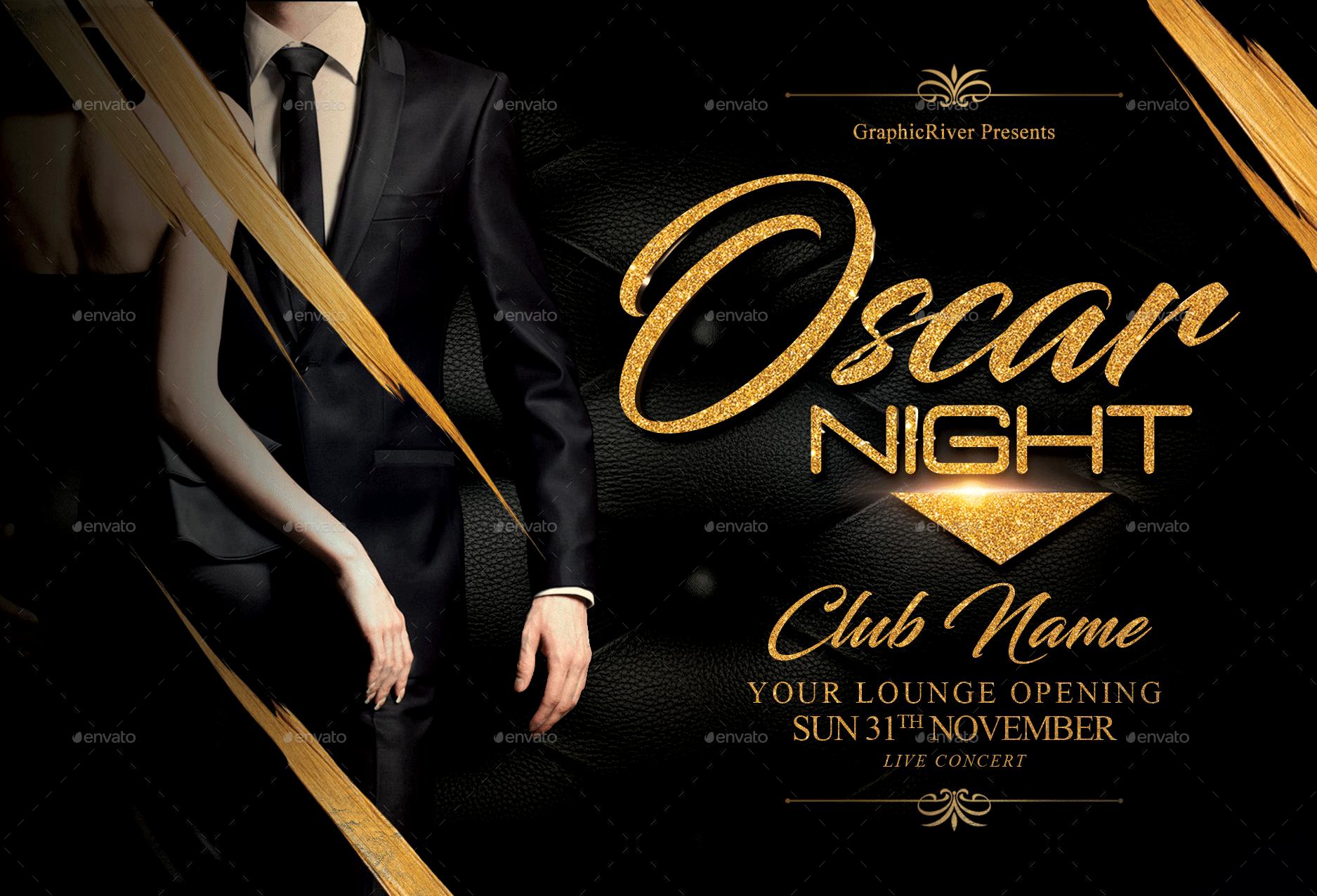 oscar night flyer template by fas