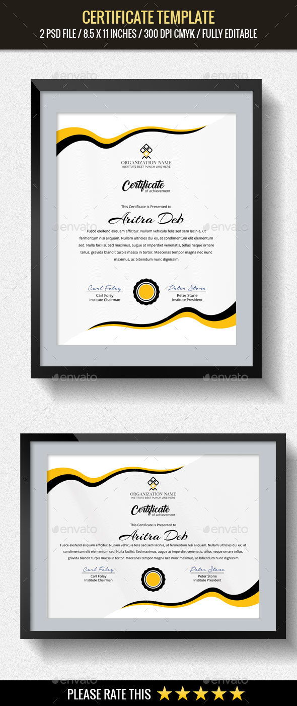 GraphicRiver Multipurpose Certificates Template 20435439