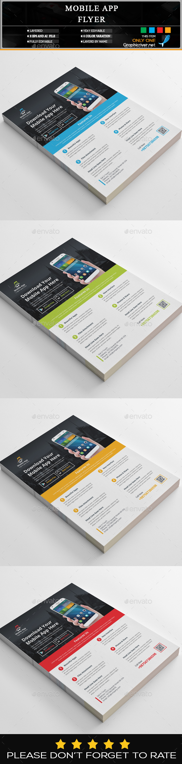 GraphicRiver Mobile App Flyer 20435472