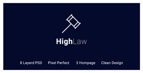 HighLaw Law Firm - Attorney PSD Templates