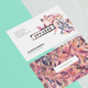 Die Cut Business Card Mockup - 3 Styles