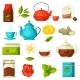 Set of Tea and Accessories, Packs and Kettles - GraphicRiver Item for Sale