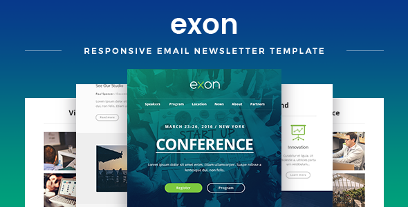 Exon - Responsive Email Newsletter Template - Newsletters Email Templates