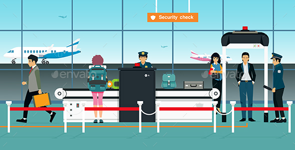 Security Checkpoint - Travel Conceptual