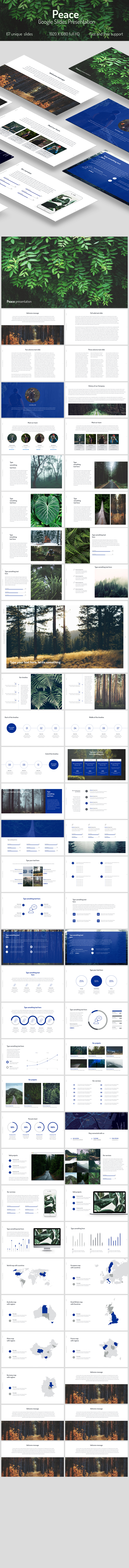 Peace Google Slides - Google Slides Presentation Templates