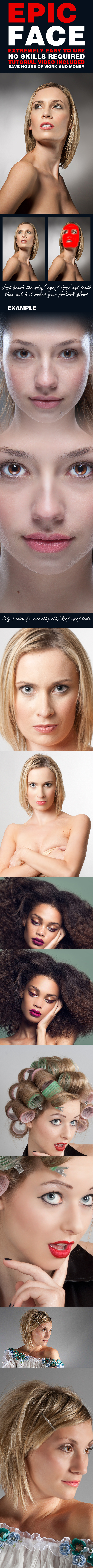 Epic Face Skin Retouch Action