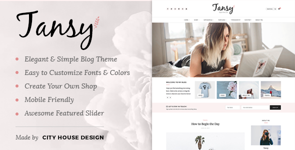 Tansy - A Responsive WordPress Blog Theme