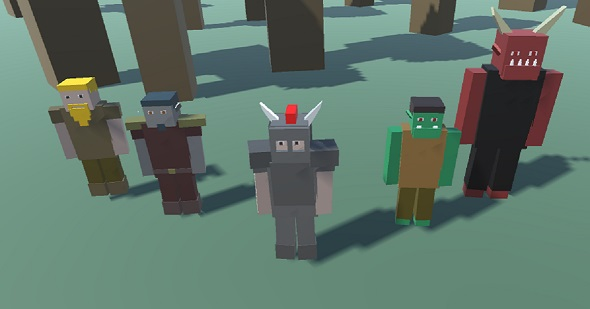 3DOcean Blocky Custom Characters Minecraft Style 20435676