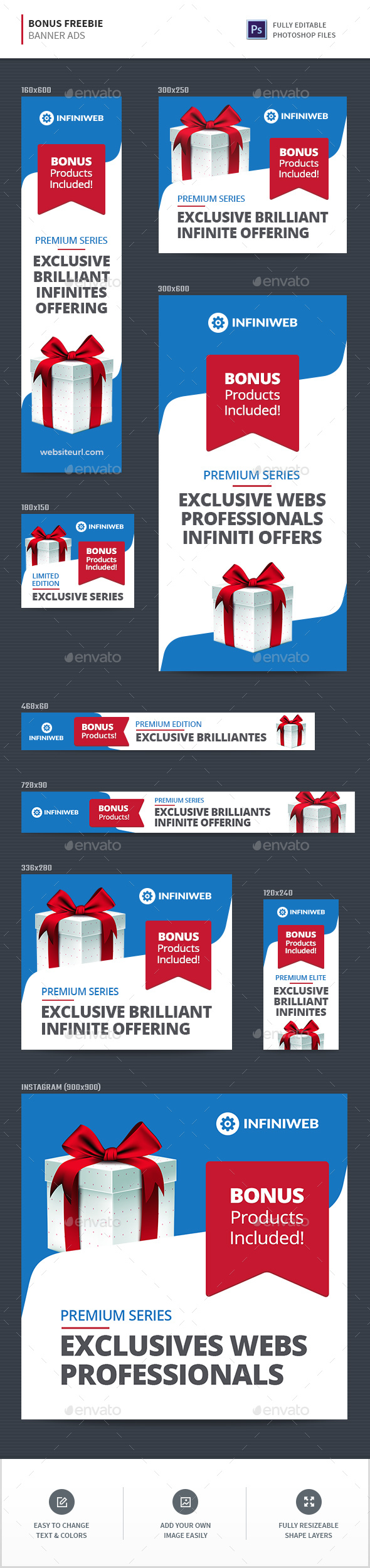 Freebie Bonus Offer Banners - Banners & Ads Web Elements