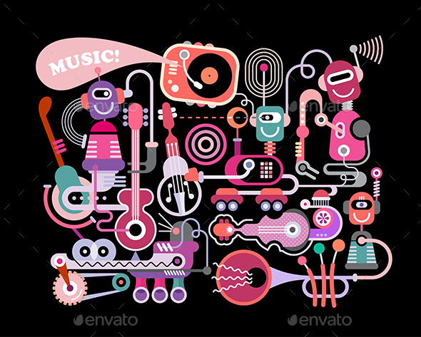 Music Concert Vector Illustration - Miscellaneous Vectors