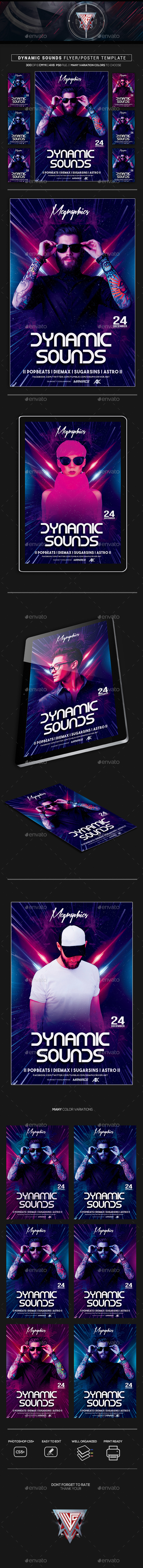 Dynamic Sounds Flyer/Poster Template - Events Flyers
