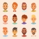 Character Various Bearded Man Face Avatar Fashion - GraphicRiver Item for Sale