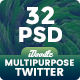 Multipurpose Twitter Header - 32 PSD - GraphicRiver Item for Sale