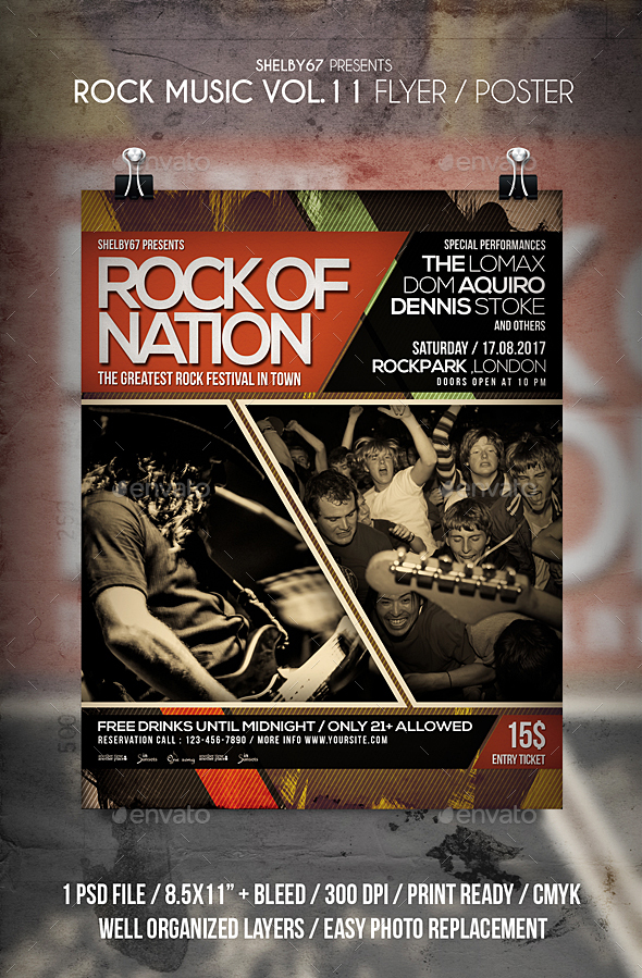 Rock Music Flyer / Poster Vol 11 - Events Flyers
