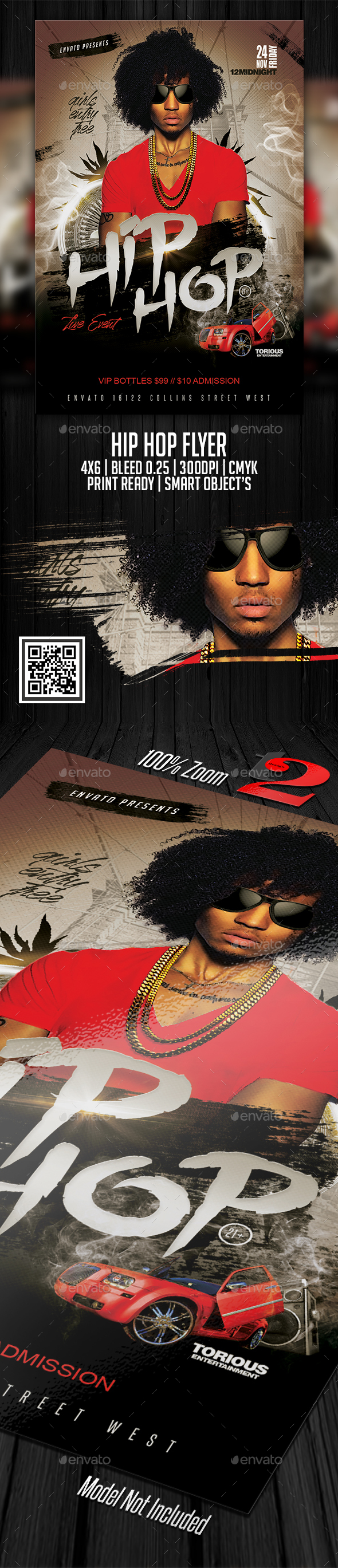 Hip Hop Flyer Template - Clubs & Parties Events