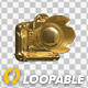 DSLR Camera - 3D Gold - Rotation Cycle - VideoHive Item for Sale