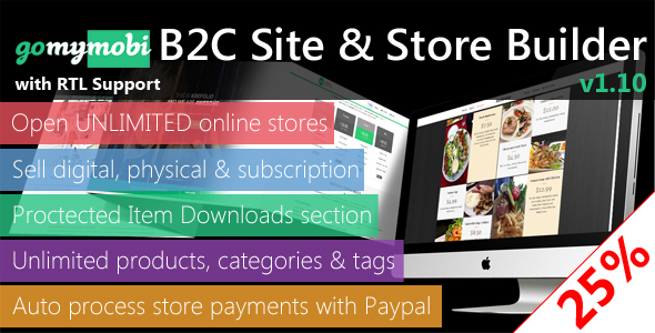 gomymobiBSB v1.13: B2C Site & Store Builder - RTL Support - CodeCanyon Item for Sale