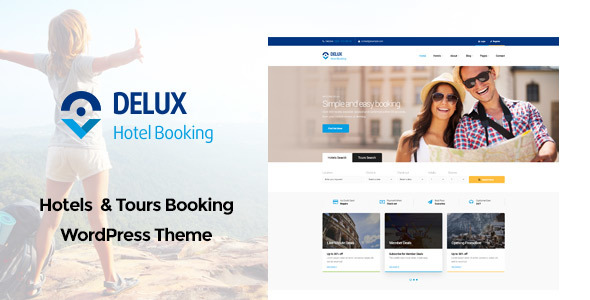 Delux – Online Hotel Booking WordPress Theme