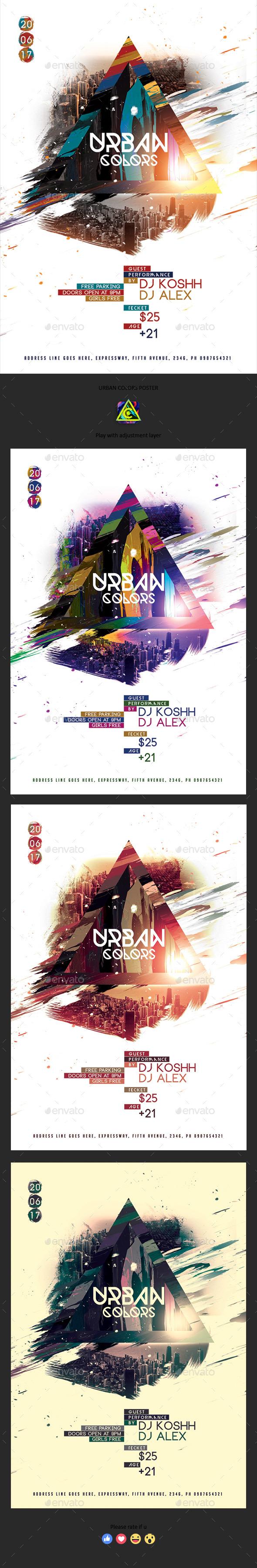 GraphicRiver Urban Colors Poster 20436639