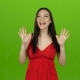 Girl Received a Big Win, She Is Happy with Her Victory. Green Screen - VideoHive Item for Sale