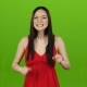 Asian Girl Is Indignant with People, She Is Angry. Green Screen - VideoHive Item for Sale