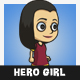 Hero Girl Character - GraphicRiver Item for Sale