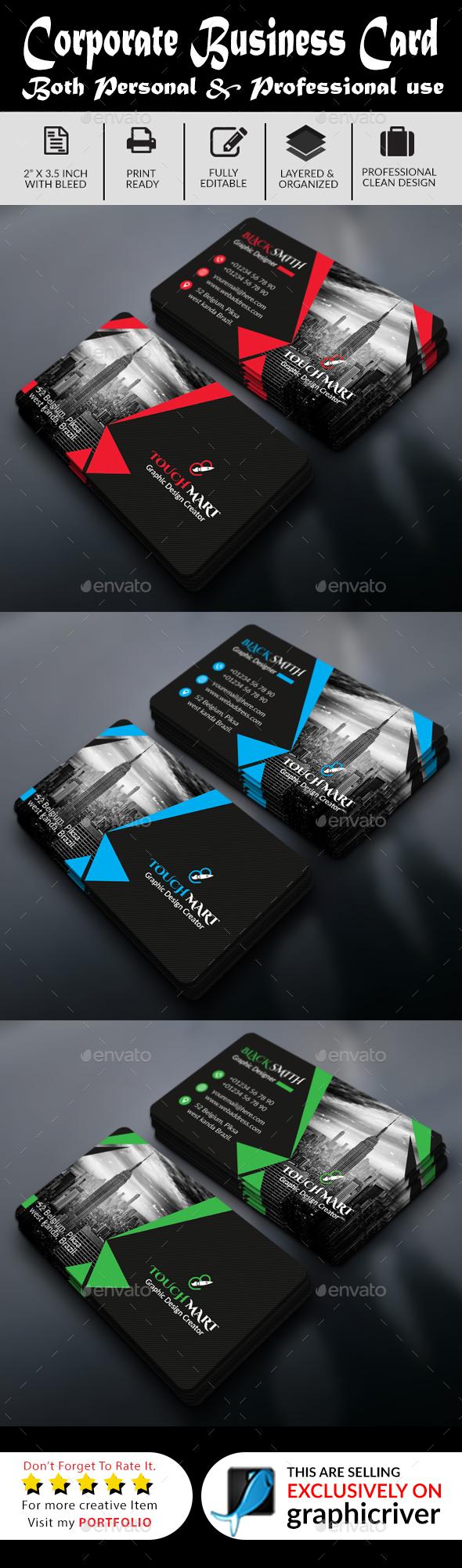 Business Card (Dark Light Version) - Business Cards Print Templates