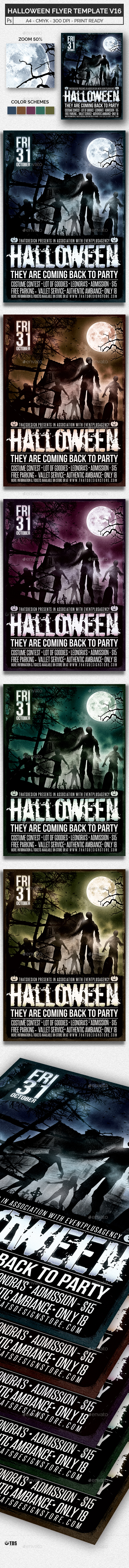 Halloween Flyer Template V16 - Holidays Events