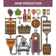 Wine Production Factory or Winery Winemaking