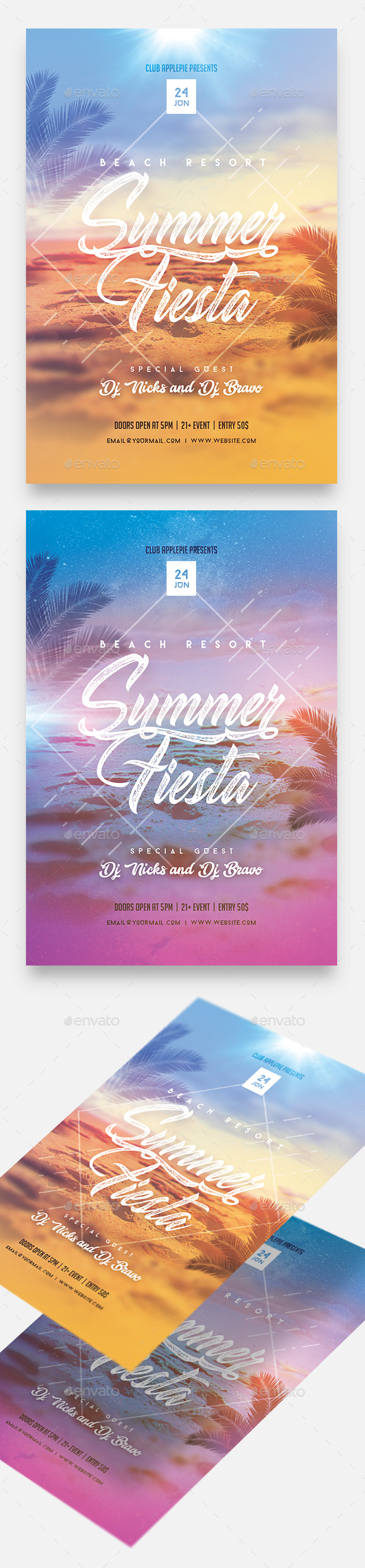 Summer Fiesta Party Flyer - Clubs & Parties Events