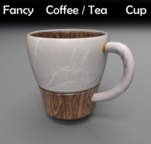 Fancy Coffee/Tea Cup - 3DOcean Item for Sale