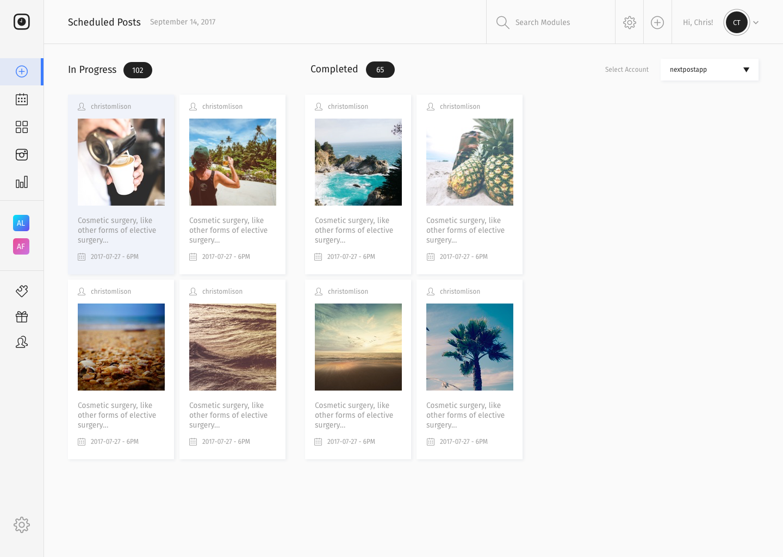 schedule instagram posts in advance