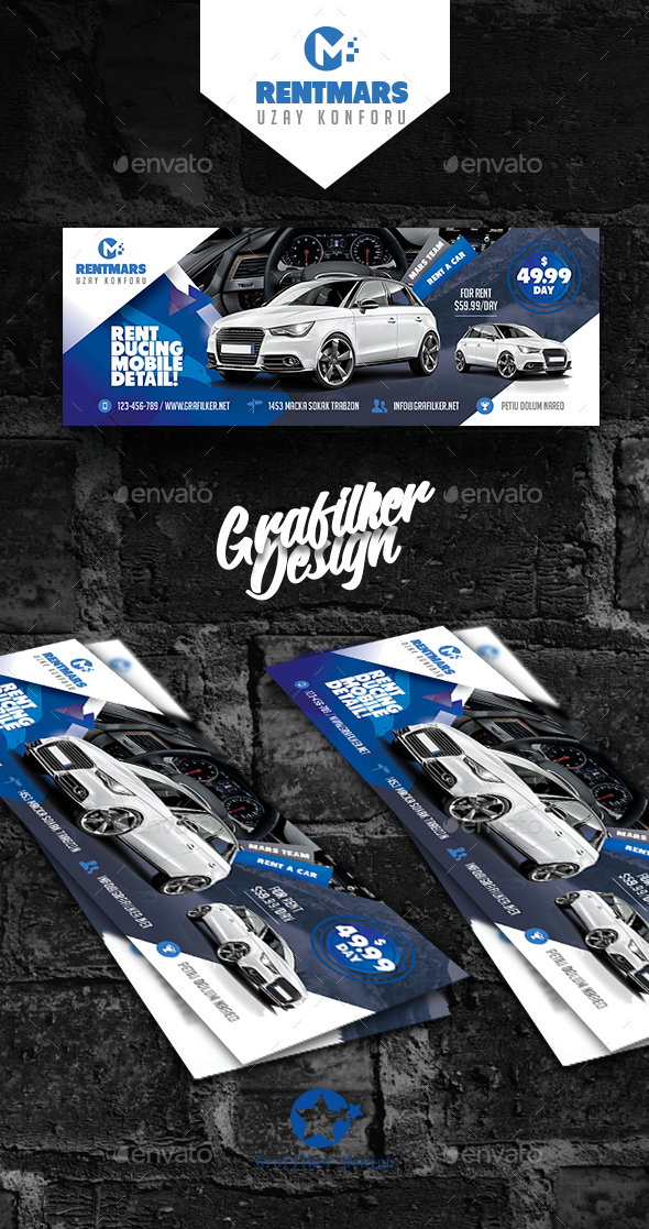 GraphicRiver Rent A Car Cover Templates 20437357