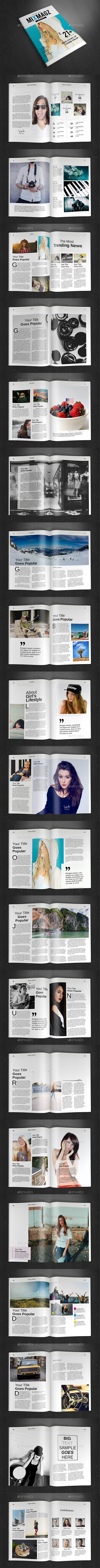A4 Magazine Template Vol.29 - Magazines Print Templates
