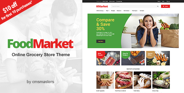 Food Market - Food Shop & Grocery Store WordPress Theme - Food Retail