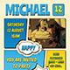 Comic Style Birthday Flyer